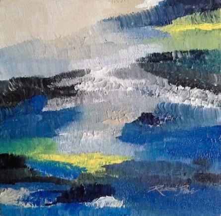 Nature Semi - abst.15 | Painting by artist Rashmi Pitre | acrylic | Canvas