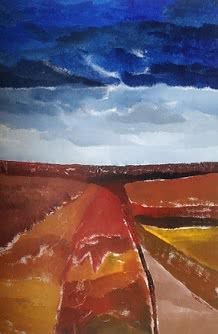 Fields | Painting by artist Rashmi Pitre | acrylic | Canvas