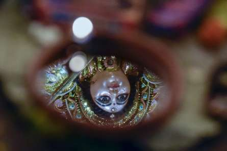 Reflection of Goddess | Photography by artist Amit Dutta | Art print on Canvas