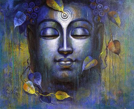 Religious Acrylic Art Painting title Buddha 10 by artist Sanjay Lokhande