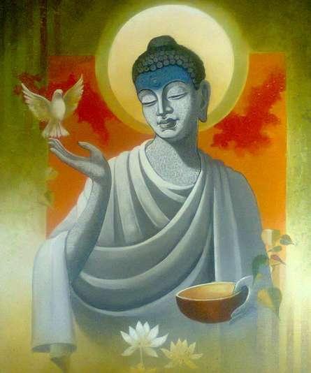 Buddha Vigilance | Painting by artist Sanjay Lokhande | acrylic | Canvas