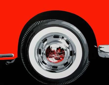 Transportation Acrylic Art Painting title Life Wheel 11 by artist Sujit Karmakar