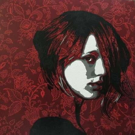 Sujit Karmakar | Acrylic Painting title The Lady 4 on Canvas | Artist Sujit Karmakar Gallery | ArtZolo.com