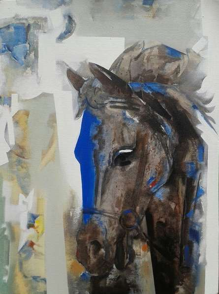 Figurative Acrylic Art Painting title 'Horse' by artist Vishal Phasale