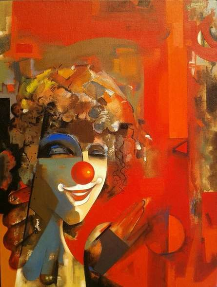 Figurative Acrylic Art Painting title 'Mirror' by artist Vishal Phasale
