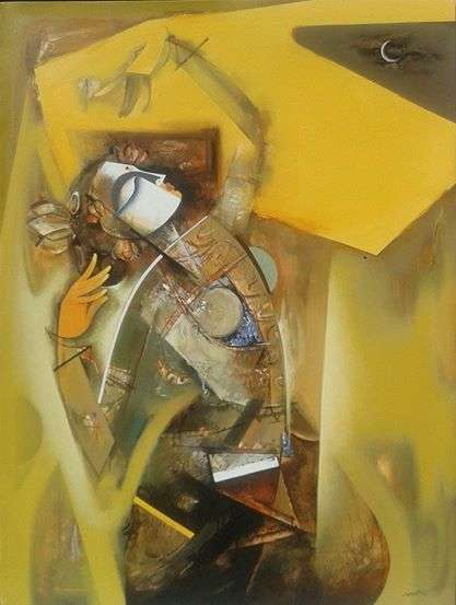Nrutyachandrika 61   Painting by artist Vishal Phasale   acrylic   Canvas