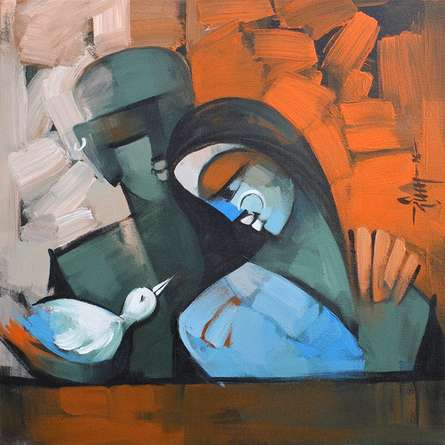 Deepa Vedpathak | Acrylic Painting title Harmony 5 on Canvas | Artist Deepa Vedpathak Gallery | ArtZolo.com