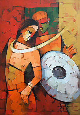 Immersed 3   Painting by artist Deepa Vedpathak   acrylic   Canvas