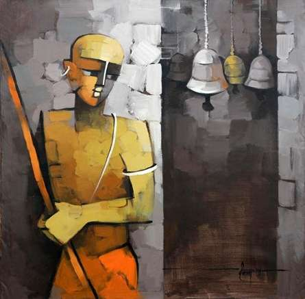 Figurative Acrylic Art Painting title 'Untitled' by artist Deepa Vedpathak