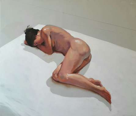 Sleeping Nude III | Painting by artist Ganesh Hire | acrylic | Canvas