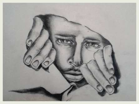 Never come out in brutal world | Drawing by artist Soumen Roy | | pencil | Art Paper