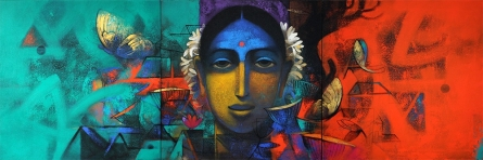 Indian Woman   Painting by artist Sachin Akalekar   acrylic   Canvas