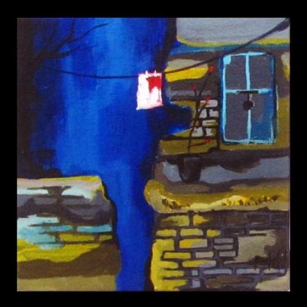 Across the Street | Painting by artist Prashalee Gaikwad | acrylic | Canvas