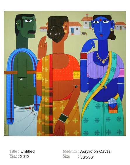 Untitle | Painting by artist Narsimlu Kandi | acrylic | Canvas