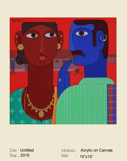 Couple | Painting by artist Narsimlu Kandi | acrylic | Canvas