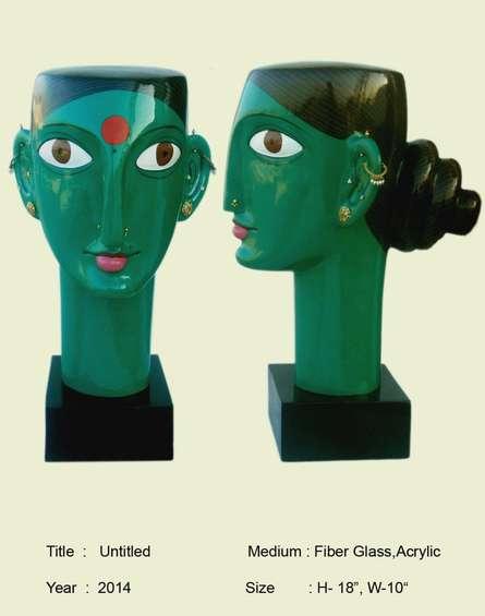 Telangana woman | Sculpture by artist Narsimlu Kandi | Fiber Glass