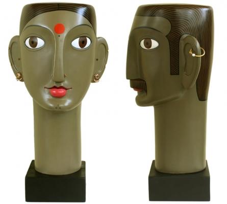 Fiberglass Sculpture titled 'Untitled 5' by artist Narsimlu Kandi