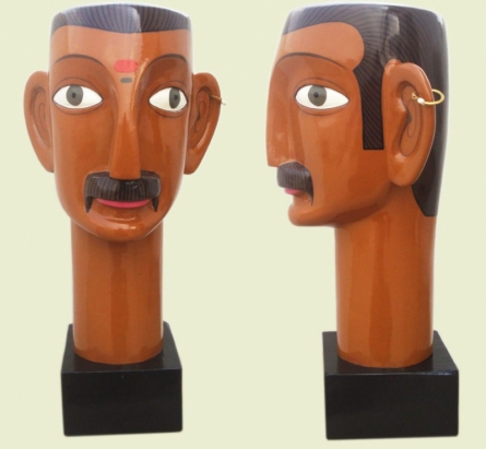 Fiberglass, Acrylic Sculpture titled 'Untitled 7' by artist Narsimlu Kandi