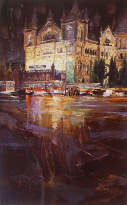 Cst 6 | Painting by artist Mukhtar Kazi | oil | Canvas