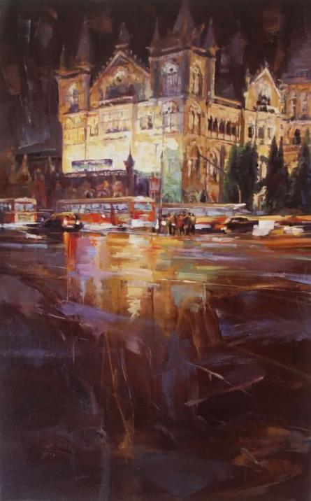 Cst 6 | Painting by artist Mukhtar Kazi | oil | Canvas