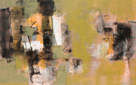 Abstract Acrylic Art Painting title 'Untitled 4' by artist Umesh Patil