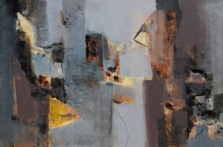 Abstract Acrylic Art Painting title 'Untitled 9' by artist Umesh Patil
