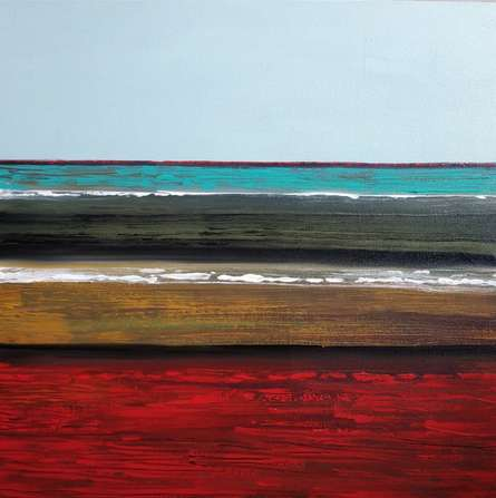 Abstract Acrylic Art Painting title 'Untitled 3' by artist Yashwant Pawar