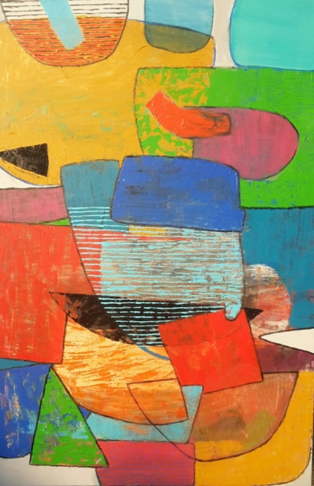 Abstract Acrylic Art Painting title 'Untitled 5' by artist Yashwant Pawar