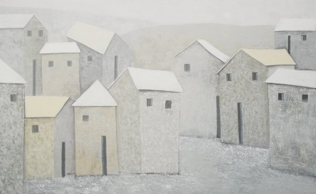 Village 6 | Painting by artist Nagesh Ghodke | acrylic | Canvas