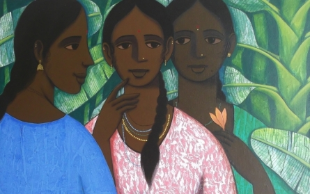 Sakhi 2 | Painting by artist Nagesh Ghodke | acrylic | Canvas