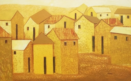 Village 46 | Painting by artist Nagesh Ghodke | acrylic | Canvas