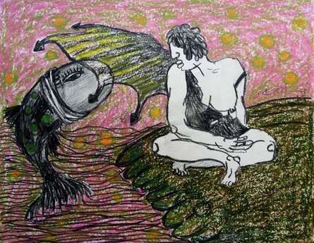 Grab Our Fish | Mixed_media by artist Kapil Alaskar | Paper