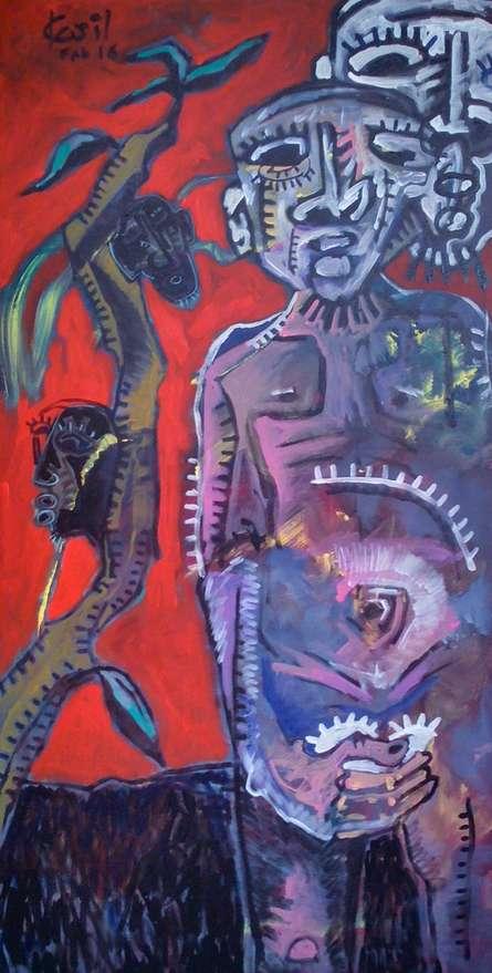 Run Man Run. Copy   Mixed_media by artist Kapil Alaskar   Canvas