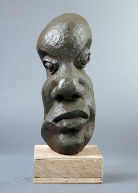 Distortion Of The Face 5 | Sculpture by artist Sucharita Adhikary | Wood