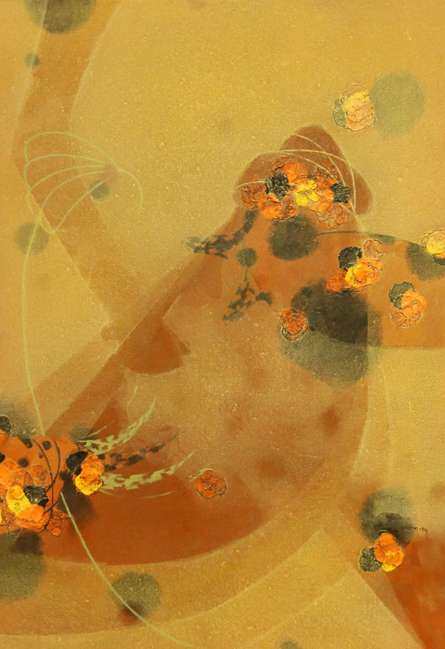 Asif Shaikh | Acrylic Painting title Colours of life 7 on Canvas | Artist Asif Shaikh Gallery | ArtZolo.com