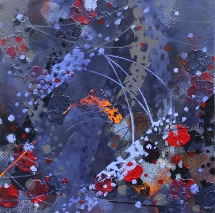 Abstract Acrylic Art Painting title Atmkhoj 1 by artist Asif Shaikh
