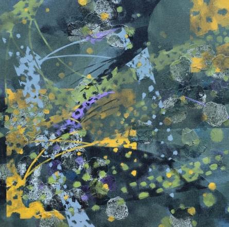 Abstract Acrylic Art Painting title 'Atmkhoj 5' by artist Asif Shaikh