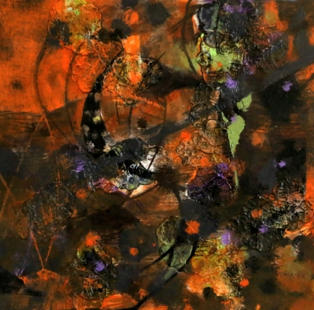 Colours Of Life 16   Painting by artist Asif Shaikh   acrylic   mount board