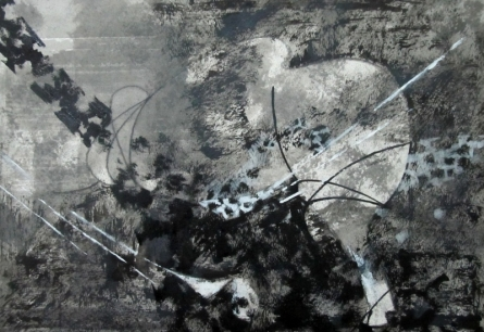 Abstract Mixed-media Art Painting title 'Exploring Bull 3' by artist Asif Shaikh