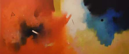 Abstract Acrylic Art Painting title 'Involution 1' by artist Ganpat Bhadke