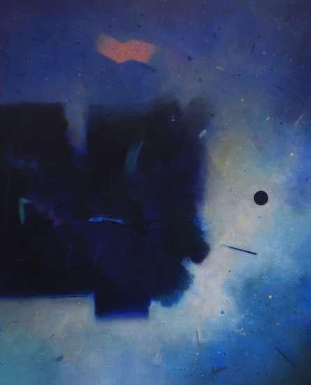 Abstract Acrylic Art Painting title 'Involution 7' by artist Ganpat Bhadke