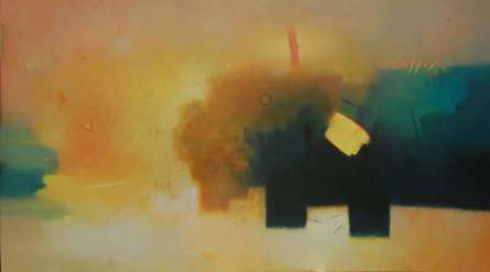Abstract Acrylic Art Painting title 'Involution 9' by artist Ganpat Bhadke