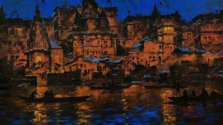 Meri Kashi 2 | Painting by artist Sandeep Chhatraband | acrylic | Canvas