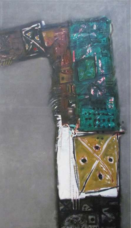 Untitled 10 | Painting by artist Somanth  Adamane | oil | Canvas