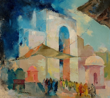 Dargah Gate | Painting by artist Sikandar Mulla | acrylic | Canvas