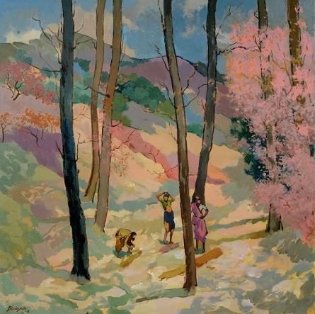 Sikandar Mulla | Acrylic Painting title Jungle 2 on Canvas | Artist Sikandar Mulla Gallery | ArtZolo.com