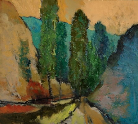 Road | Painting by artist Sikandar Mulla | oil | Canvas