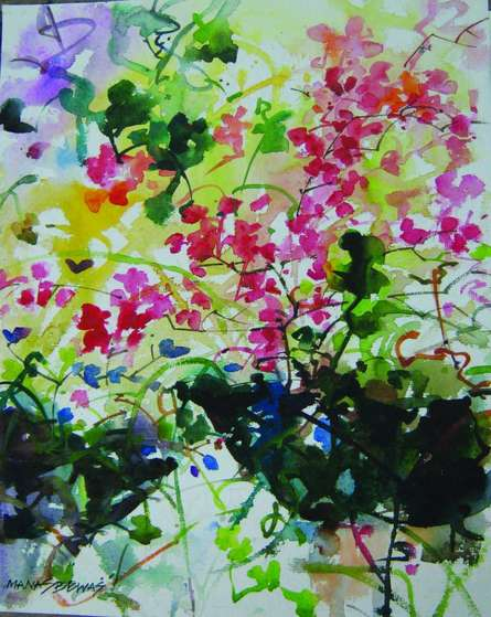 Flower vase | Painting by artist Manas  Biswas | watercolor | Paper