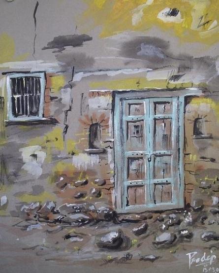 Darwaja | Painting by artist Pradip Bhosale | watercolor | Paper