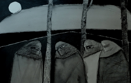 contemporary Ink Art Drawing title 'Untitled 9' by artist Umesh Bhoi